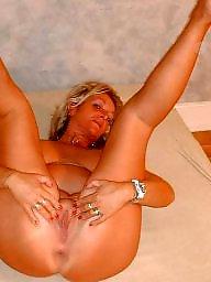 Leggings, Granny, Blond mature, Leg, Blonde granny, Mature legs
