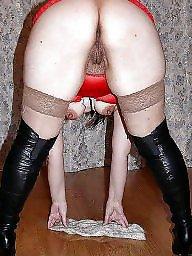 Upskirt mature, Stockings, Upskirt
