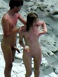 Nude beach, Beach voyeur, Caught, Erection, Erect, Beach nude