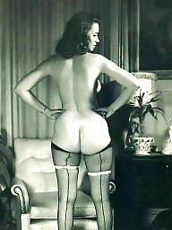 Vintage stockings, Suspenders, Hairy stockings