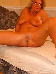 Leggings, Granny, Leg, Blond mature, Blonde granny, Mature legs