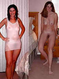 Dressing, Young amateur, Young, Old, Dressed, Naked