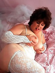 Chubby mature, Chubby tits, Chubby stockings, Mature stocking, Chubby, White stockings