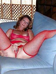 Fishnets, Amateur mature, Sexy mature, Amateur stockings, Fishnet