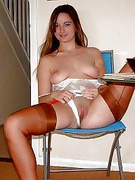 Mature nylon, Mature stockings, Mature stocking, Open, Wide, Nylon