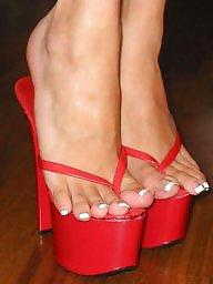 Thong, Feet, High heels, Heels, High heel