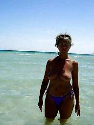 Milf beach, Beach, Beach tits