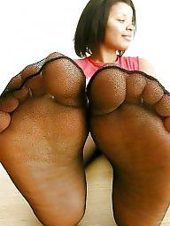 Ebony feet, Nylon feet, Feet, Stockings ebony, Black stockings, Ebony stocking