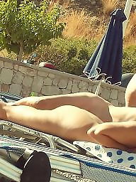 Nude beach, Greece, Beach voyeur