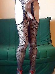 Fishnets, Mature stockings, Fishnet, Black stockings, Amateur mature, Mature black