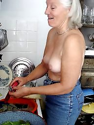 Mature naked, Housewife, Naked mature, Kitchen, Naked