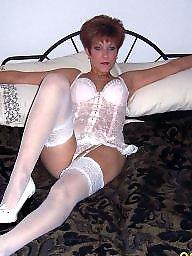 Amateur lingerie, Milf lingerie, Lingerie milf, White stockings, White lingerie