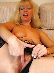 Wanking, Amateur mature, Watching, Blond mature