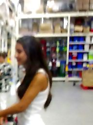 Spy, Shopping, Romanian, Old, Hidden cam, Old young