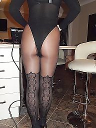 Sheer, Black upskirt, Tights, Upskirt stockings, Black stockings, Body stocking