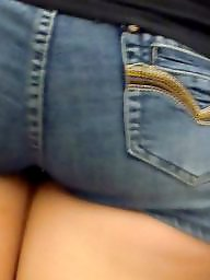 Big ass, Big butt, Hidden cam, Jeans, Teen shorts, Ass up