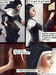 Nuns, Cartoon, Cartoons