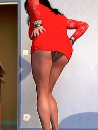 Upskirt ass, Ass, Upskirt, Red, Big, Big boob
