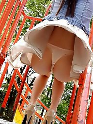 Stockings upskirt, Ups, Public nudity, Park, Skirt, Up skirt