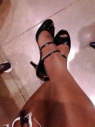Black stockings, Ebony, Stockings, Amateur stockings, Ebony stockings, Ebony feet