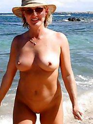 Milf beach, Public, Beach, Beach milf