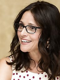 Celebrities, Glasses, Julia, Brunette milf