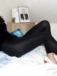 Leggings, Blond mature, Leg, Mature leggings, Mature legs, Mature stockings
