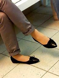 Flats, Shoes, Hidden cam, Candid feet, Shoe, Flat