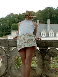 Mini skirt, Wife, Skirt, Voyeur, Amateur, Amateur wife