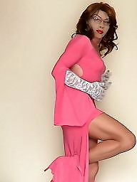 Mature dressed, Pink, Mature dress, Dressed, Dress, Mature stocking