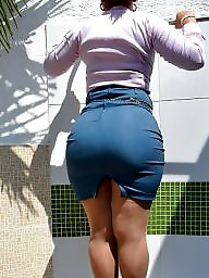 Skirt, Milf ass, Skirt ass, Big ass, Latin, Big booty
