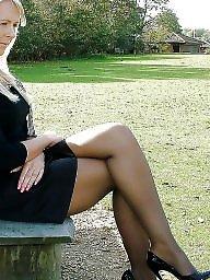 Leggings, Upskirt stockings, Leg