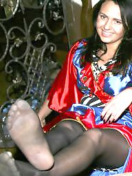 Nylon feet, Nylon, Stocking feet, Nylons, Feet