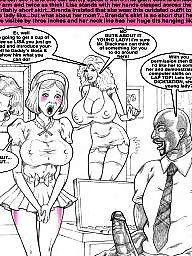 Wife cartoon, Big tit brenda, Black cartoon, Big tits cartoon, Brenda, Submissive