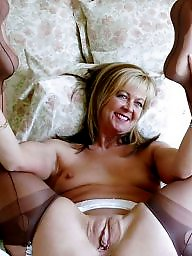 Blond mature, Mature stocking, Mature stockings