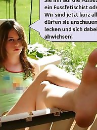 German caption, Captions, Feet captions, Caption, Nylon feet, German captions