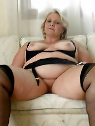 Mature stockings, Mature stocking, Bed, Mature bed