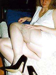 Black stockings, Heels, Sag