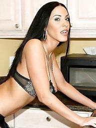 Kitchen, Big tits, Brunette milf, Big tit, Wife