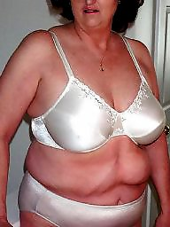 Mature bra, Grandma, Big mature, Big bra, Mature boobs, Mature stockings